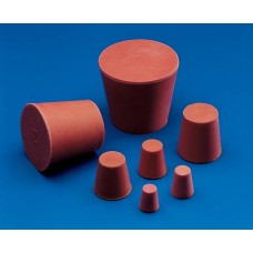 CONICAL STOPPERS - Red Rubber - Solid 12 x 9 mm pkt 1