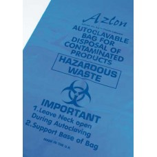 AZLON BIOHAZARD BAG 300X608 BLUE PP (packed 100)