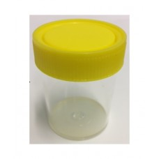 Container 70ml 5744 PS Yellow Capped CEM Carton of 500