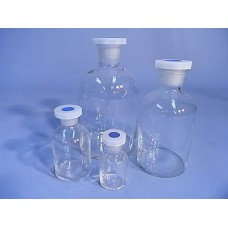 Bottle,reagent,clear glass, 125ml,w/m,with glass stopper , each