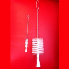Bottle brushes White Nylon on galvanised wire handle ,1 , 60mm 45mm 200mm tufted